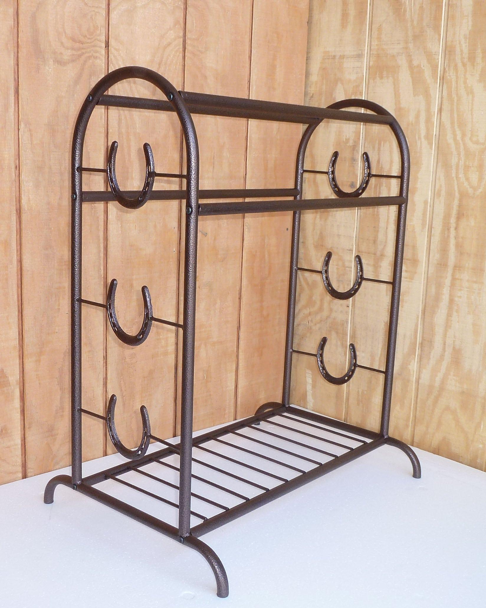 Copper trophy saddle rack