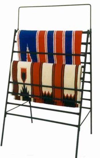 blanket display, heavy duty blanket display, blanket holder, heavy duty blanket holder