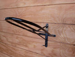 saddle rack, wall mount saddle rack, wall mount saddl holder, single saddle holder